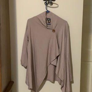 Bobeau women's cardigan wrap size L mauve